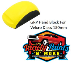 GRP Ergonomic Hand Sanding Block for 150mm Velcro Discs