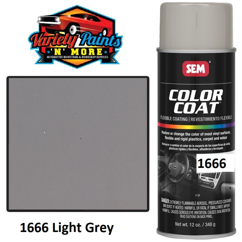 1666 Light Grey SEM Colourcoat Vinyl Aerosol