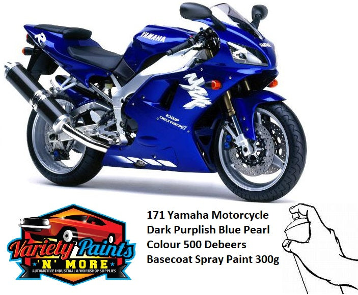 171 Yamaha Motorcycle Deep Purplish Blue Pearl Colour 500 Debeers Basecoat Spray Paint 300g