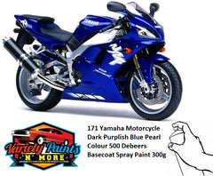 171 Yamaha Motorcycle Dark Purplish Blue Pearl Colour 500 Debeers Basecoat Spray Paint 300g