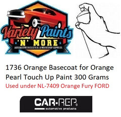 1736 Orange Basecoat for Orange Pearl Touch Up Paint 300 Grams