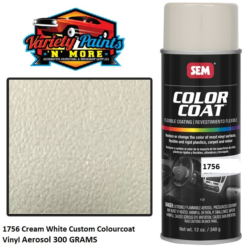 1756 Cream White Custom Colourcoat Vinyl Aerosol 300 GRAMS