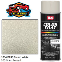 1804MERC Cream White Mercedes  SEM Colourcoat Vinyl Aerosol 300 Grams