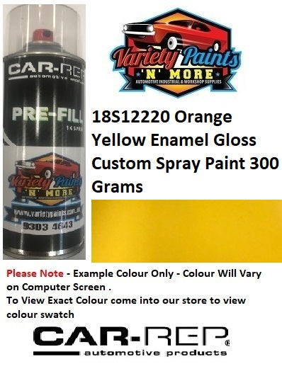 18S12220 Orange Yellow Enamel Gloss Custom Spray Paint 300 Grams