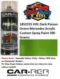 18S2335 VOL Dark Poson Green Mercedes Acrylic Custom Spray Paint 300 Grams