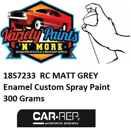 18S7233  RC MATT GREY Enamel Custom Spray Paint 300 Grams