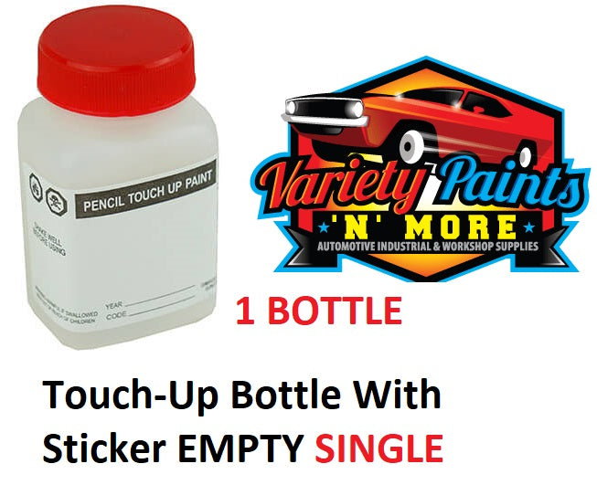 Touch-Up Bottle With Sticker EMPTY SINGLE BOTTLE