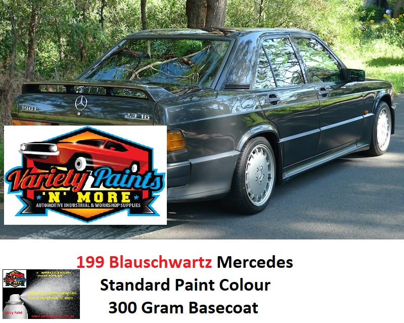 Variety Paints 199 Blauschwartz Mercedes Standard Basecoat Touch Up Paint