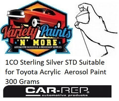 1CO Sterling Silver STD Suitable for Toyota Acrylic  Aerosol Paint 300 Grams