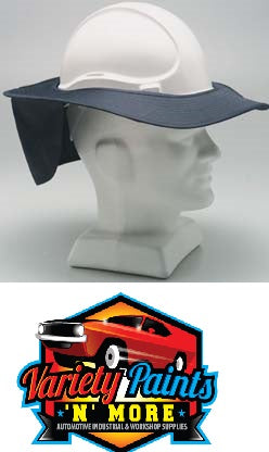 Hard Hat Navy Blue Brim Large