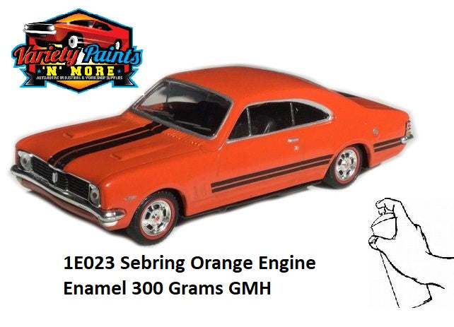 1E023/11429 Sebring Orange Engine Enamel 300 Grams GMH