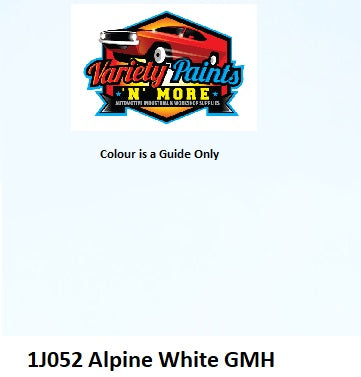 1J052 Alpine White GMH Acrylic Touch Up Paint 300 grams