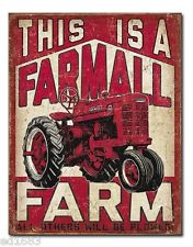 "METAL SIGN This is a Farmall Farm 12 1/2"" x 16"""