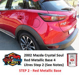 2002 Mazda Crystal Soul Red Metallic Base 4 Litres Step 2 (See Notes)