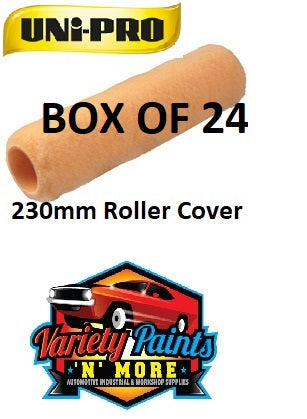 Unipro 230mm Roller Cover Bulk Box of 24 10mm Nap