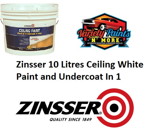 Zinsser 10 Litres Ceiling White Paint and Undercoat In 1