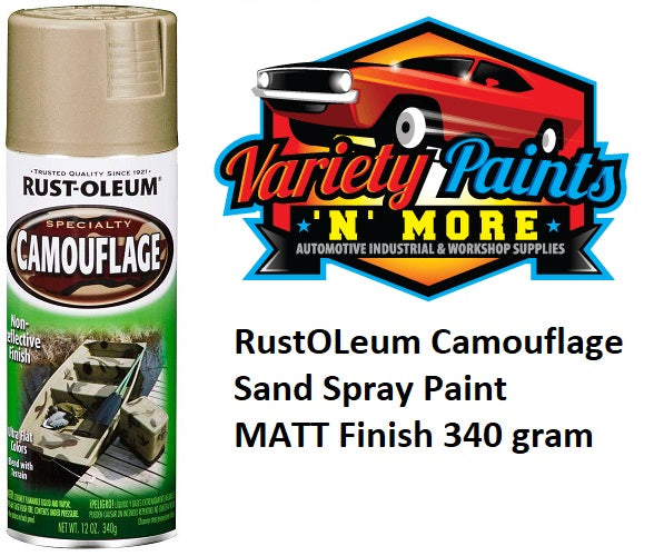RustOLeum Camouflage Sand Spray Paint MATT Finish 340 gram
