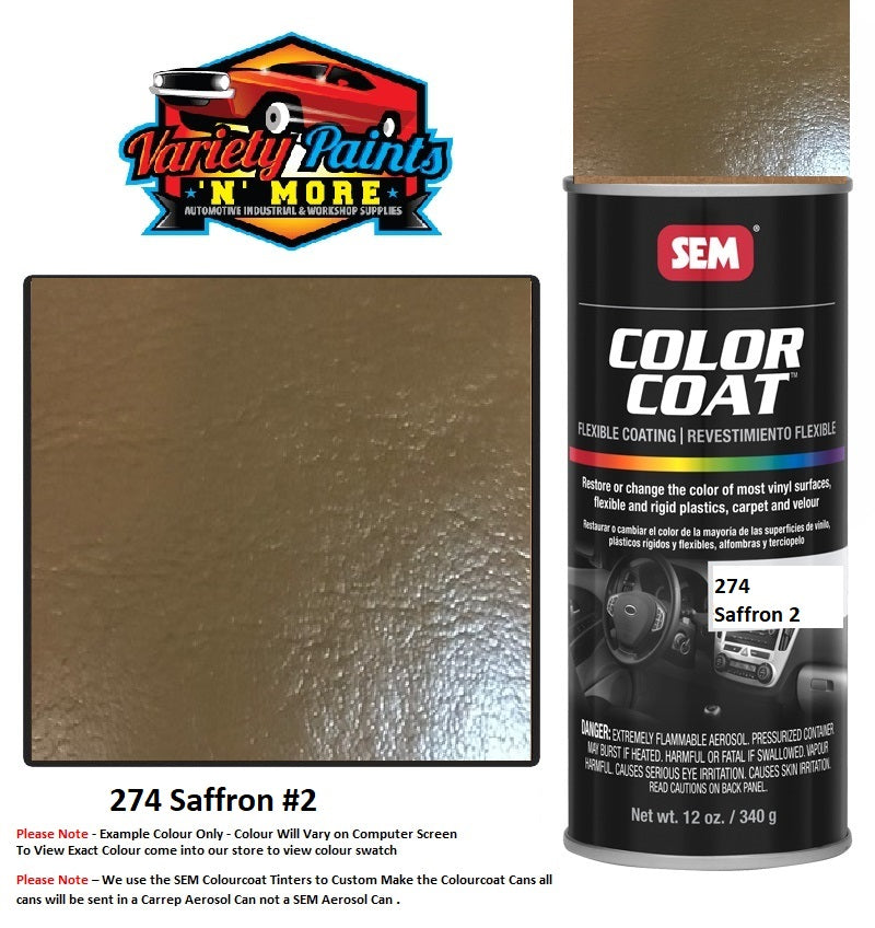 274 SAFFRON #2 Mercedes  SEM Colourcoat Vinyl Aerosol 300 Grams