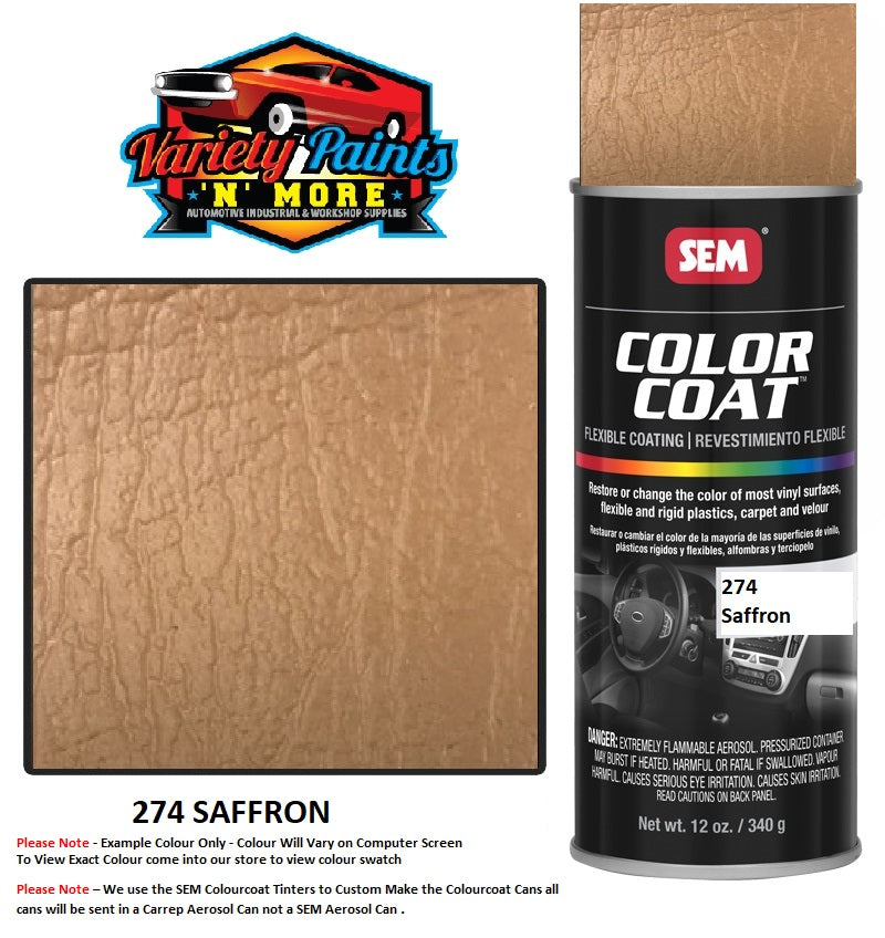 274 SAFFRON Mercedes SEM Colourcoat Vinyl Aerosol 300 Grams