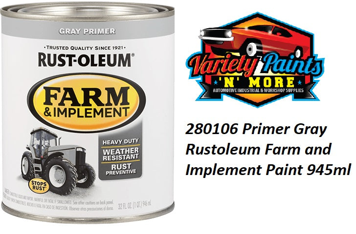 RustOleum Grey Primer Enamel Paint 946ml