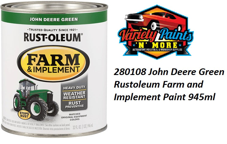 RustOleum John Deere Green Enamel Paint 946ml Variety Paints N MORE
