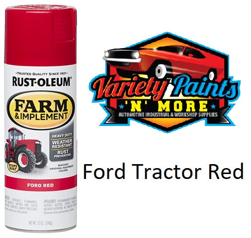 RustOleum Ford Tractor Red Farm & Implement Enamel Spray Paint 340 Gram