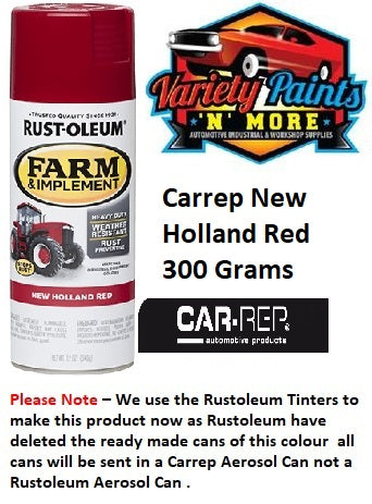 CARREP New Holland Red Farm & Implement Enamel Spray Paint 340 Gram