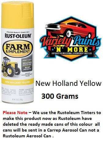 Carrep New Holland Yellow Farm & Implement Enamel Spray Paint 340 Gram