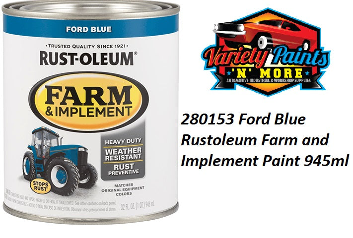 RustOleum Ford Tractor Blue Enamel Paint 946ml