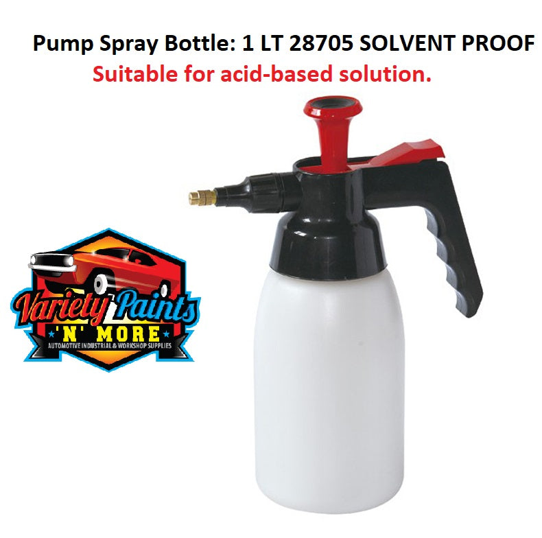 Pump Spray Bottle: 1 LT SOLVENT PROOF 28705