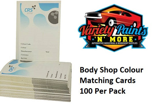 GRS 100 Pack Colour Matching cards