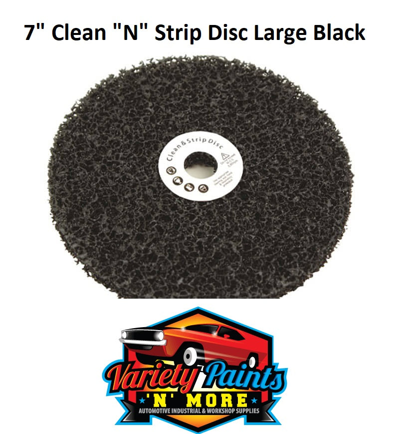"7"" Clean ""N"" Strip Disc Large Black"