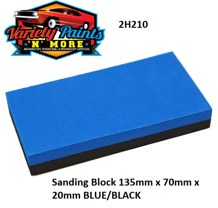 Sanding Block 135mm x 70mm x 20mm Blue/Black