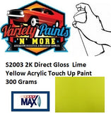 S2003 2K Direct Gloss  Lime Yellow Acrylic Touch Up Paint 300 Grams