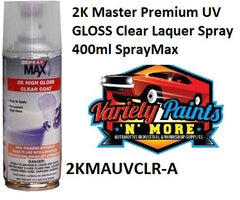 2K Master Premium UV GLOSS Clear Laquer Spray 400ml SprayMax