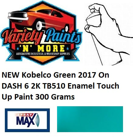 NEW Kobelco Green 2017 On DASH 6 2K TB510 Enamel Touch Up Paint 300 Grams