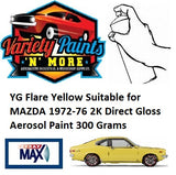 YG Flare Yellow Suitable for MAZDA 1972-76 2K Direct Gloss Aerosol Paint 300 Grams