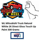 WL Natural White 2K Direct Gloss Suitable for Mitsubishi Truck Touch Up Paint 300 Grams