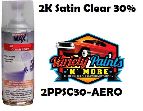 30% Satin Clear 2K Spraymax Aerosol 300 Grams