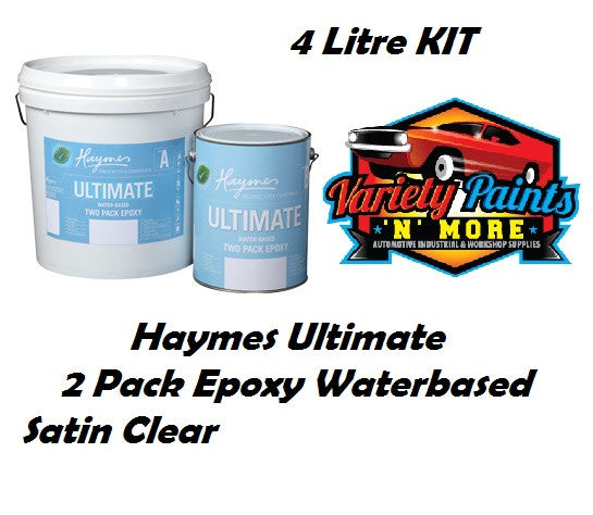 Haymes Ultimate 2 Pack Epoxy Satin Clear 4 Litre Kit
