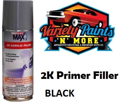 Spraymax TROTON 2K Primer Filler Black 300 Grams