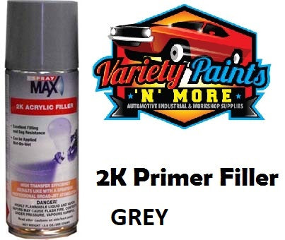 Spraymax 2K Hibuild Primer Filler Medium Grey