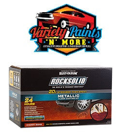 Rustoleum Cherry Bomb Rock Solid 1 Car Garage Polycuramine  Metallic Floor Coating Kit
