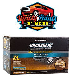 Rustoleum Earth Brown Grey Rock Solid 1 Car Garage Polycuramine  Metallic Floor Coating Kit
