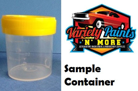 PC0035 Sample Container Single Unlabelled Yellow Capped120mL 108x44mm