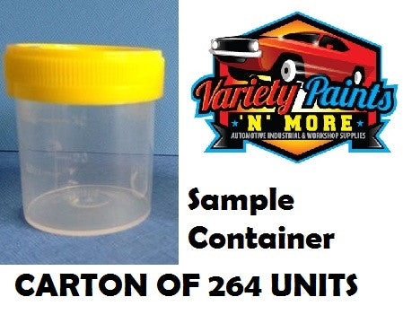 PC0035 Sample Containers 264 UNITS Unlabelled Yellow Capped120mL 108x44mm