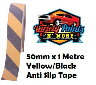 Anti-Slip Tread Tape 50mm x 18 Metre - Black & Yellow