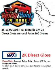 35-132A Dark Teal Metallic GM 2K Direct Gloss Aerosol Paint 300 Grams