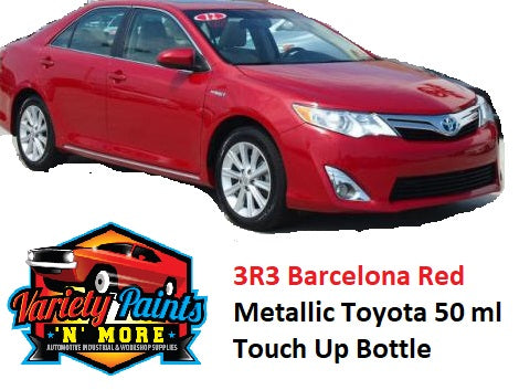 3R3 Barcelona Red Metallic Standard Toyota 50 Ml Touch Up Bottle