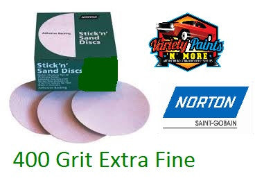Norton No-Fil Stick & Sand Disc 150mm 400 Grit BOX 100